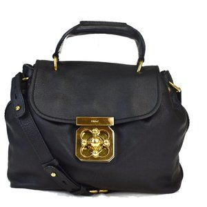 CHLOE Elsie 2Way Hand Shoulder Bag Leather Black